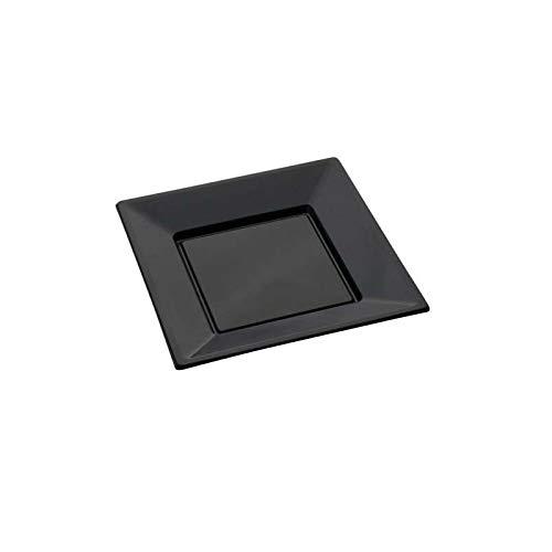vaisselle jetable - Assiette plastique carré X12 \