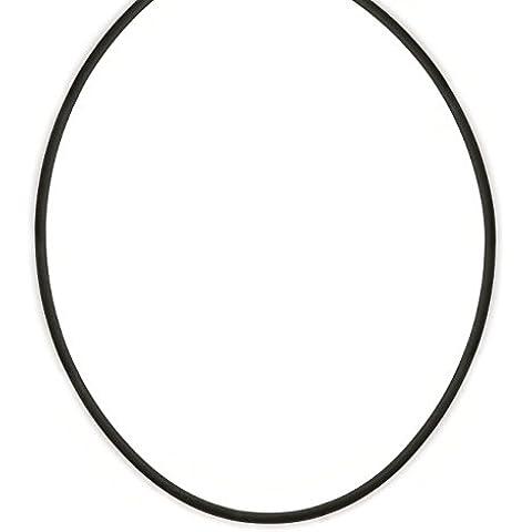 Collana con cavo in caucciù con chiusura in acciaio, 50 cm-Portagioie da donna, da (Cavo Gomma Collana)