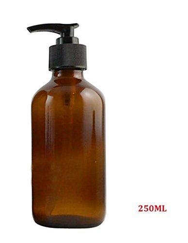 250ml Leer nachfüllbar Bernstein Glas Shampoo Dusche Gel Verpackung Flasche Container Topf mit Kunststoff Pumpe für Make-up Kosmetik Bad Seife Liquid Toilettenartikel