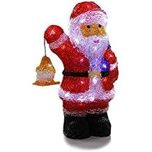 Père Noël et sa lanterne lumineux 40 LED Blanc froid d1ed67db3bc1