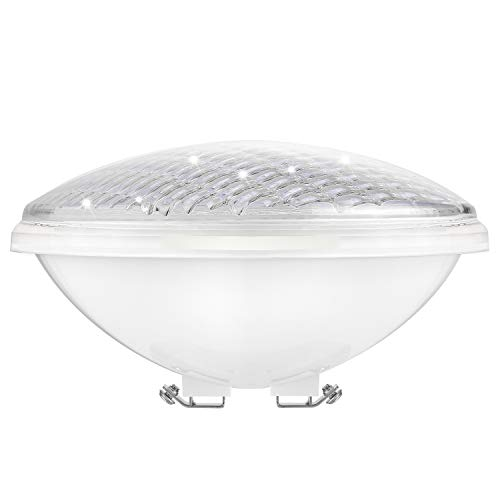 COOLWEST 36W Lampe de Piscine LED Lumière PAR56 Blanc 12V DC/AC, Etanche IP68 Éclairage sous-Marin, Remplacez Les Ampoules halogènes 300W