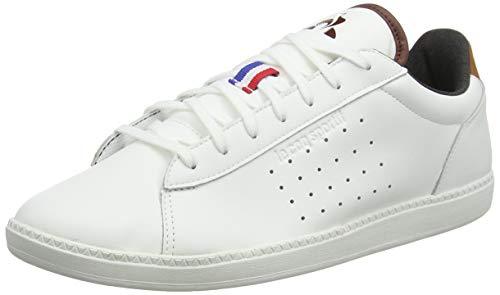 le coq Sportif COURTSTAR Winter Denim CIN, Baskets Hommes, Blanc Optical White/Cinnamon, 42 EU