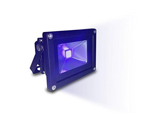 Schwarzlicht UV LED Strahler Fluter Beleuchtung 10 Watt COB Effektbeleuchtung mit Stecker