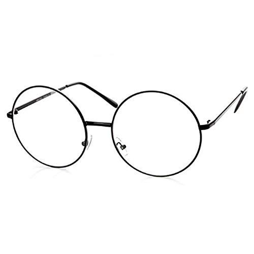 PICCOLI Brille Harry Kinder Karneval Brille Rotonglas klar mit schwarzem Rahmen aus Legierung