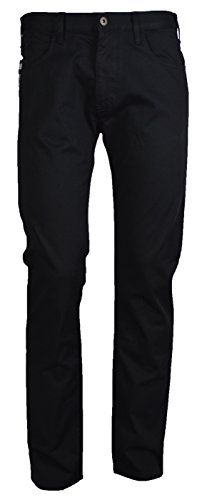 Emporio Armani Herren J45 slim fit jeans Regelmäßige 46 Schwarz (Jeans Armani Zip-fly)