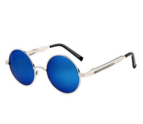 Arctic Star® Bunte Reflektierende Sonnenbrille Beach Prince Sonnenbrille, Blue Reflective