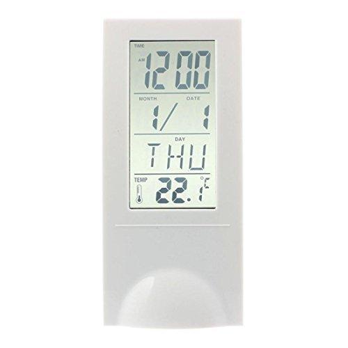 Vovotrade® Trasparente a cristalli liquidi Digital Lndoor tester di temperatura orologio calendario