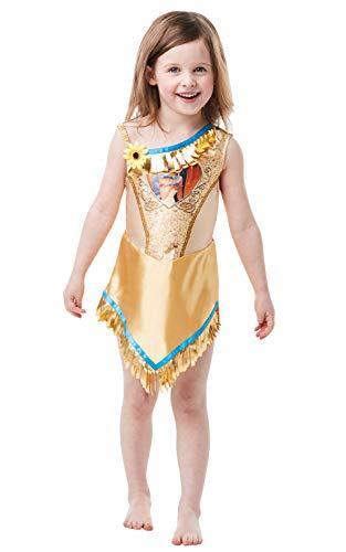 Rubie's Offizielles Disney Prinzessin Pailletten Pocahontas Klassisches Kostüm für Kinder von 2-3 Jahren, Höhe 98 cm (Kostüm Pocahontas Kind)