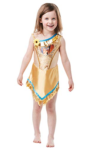 Rubie's Offizielles Disney Prinzessin Pailletten Pocahontas Klassisches Kostüm -