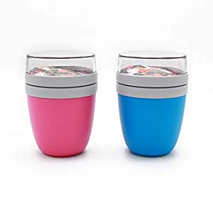 Mepal Lunchpot 2-er Set Ellipse aqua und pink Lunchbox