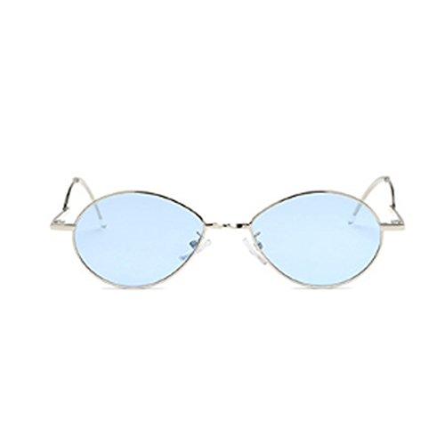 Aiweijia Fashion Sonnenbrille Vintage oval Ocean Lens Weiblich Männlich Vintage Sonnenbrille Metallrahmen