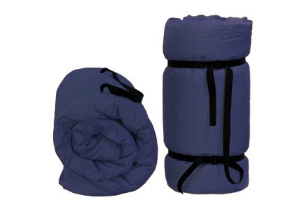 Tragbare Futon Blau, 200x140x4 cm Yoga-futon