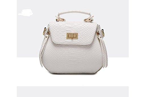 Nuove borse, coccodrillo modello spalla coreano, sacchetto del messaggero, la signora borsa guscio portatile creamy-white