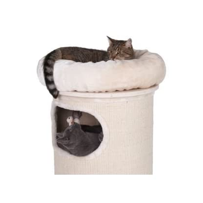 Sturdy Cat Scratching Barrel Three Dens With Individual Removable & Washable Cushions And A Comfy Snuggle Bed - With A Solid Wood Base By eCommerce Exellence 8