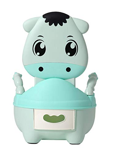 Glenmore Vasino Bambini Vasetto WC Bambina Vater Bimbi Mucca Morbido Imbottito Verde