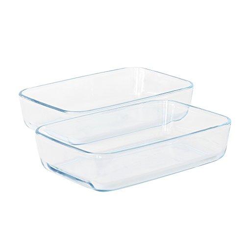 ProCook Ofenform aus Glas, rechteckige Auflaufformen, Set, 2-teilig (Glas-esstisch Set Esstisch)