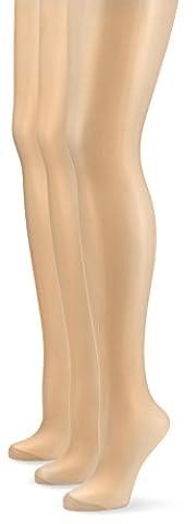 Nur Die - Collants - 15 DEN - Lot de 3 - Femme - Beige (Teint 114) - FR: 44 (Taille fabricant: M (40-44)