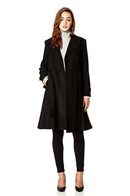 Anastasia Women's Wool Winter Belted Trench Coat