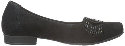 Gabor Shoes Comfort Sport, Ballerine Donna Nero (Schwarz Schwarz)