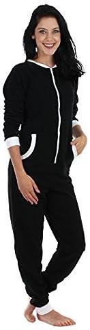 Sleepyheads Pyjama ohne Füße für Damen aus Fleece, bunter Onesie, Overall, Schlafanzug (Pyjama Overall)