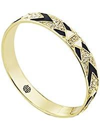 House of Harlow 1960 Bracelet Braided Pave, 14-Carat Gold-Plated, shiny, Ø65mm