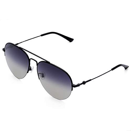 SUNGLASSES Trendy Sonnenbrillen, für Frauen Metall Zubehör Fall UV400 Schutz Metallrahmen Ideal für das Fahren oder Stadtgehen (Farbe : A)