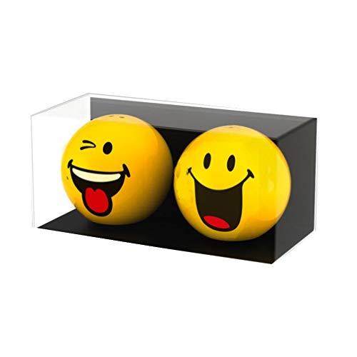zak! Salz-/Pfefferstreuer Smiley-Fröhlich/Zwinkern 2 Stück, Porzellan, Mehrfarbig, 6 x 6 x 5.5 cm, 2-Einheiten