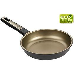 BRA Terra - Sartén 24 cm, aluminio fundido con antiadherente Teflon Selectaptas para todo tipo de cocinas incluida inducción