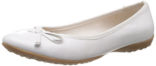 Clarks Arizona Heat, Ballerines femme Blanc (White Leather)