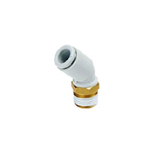45 Weiße Ellenbogen (SMC kq2K06-01wie One-Touch-Fitting, männlichen Ellenbogen, 45Grad, weiß)