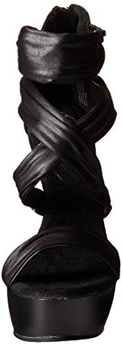 Pleaser Impulse-558, Sandales Bout Ouvert Femme Noir (Blk Pu-Fabric/Blk Matte)