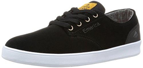 Emerica Herren The Romero Laced Blak WH Skateboardschuhe, Schwarz Black White 552, 43 EU