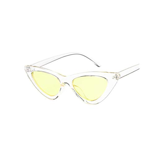 Sport-Sonnenbrillen, Vintage Sonnenbrillen, Cat Eye Women Sunglasses Fashion Luxury Brand Designer Lady Female Spiegel Points Sun Glasses For Women Oculos De Sol Black Trans Yellow