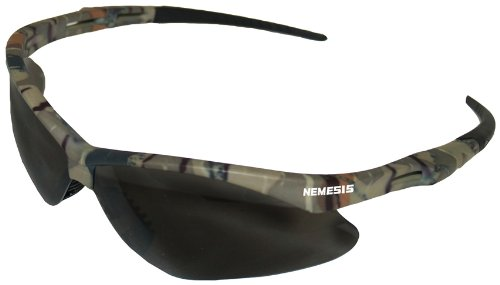 Kimberly Clark Jackson Safety V30 Nemesis Smoke Anti Fog Lens Safety Eyewear with Camo Frame by Kimberly Clark