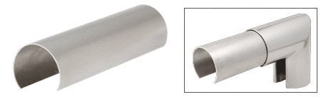 CRL 1-1/2 Stainless Steel Connector Sleeve for Cap Railings, Cap Rail Corners, and Hand Railings by C.R. Laurence