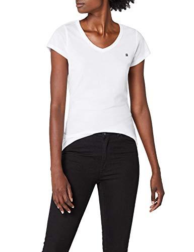 G-STAR RAW Damen T-Shirt Eyben Slim V T Wmn S/S Weiß (White 110), 38 (Herstellergröße:M)