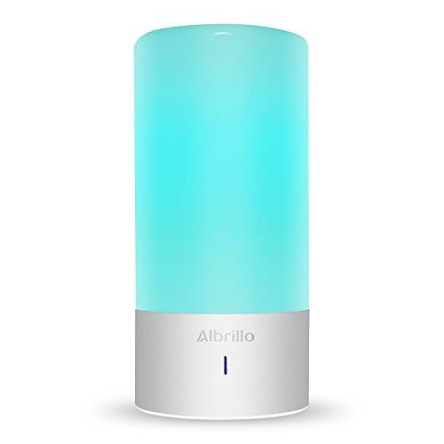 Albrillo LED Tischlampen Touch Farbwechsel Stimmungslicht + Warmweiß