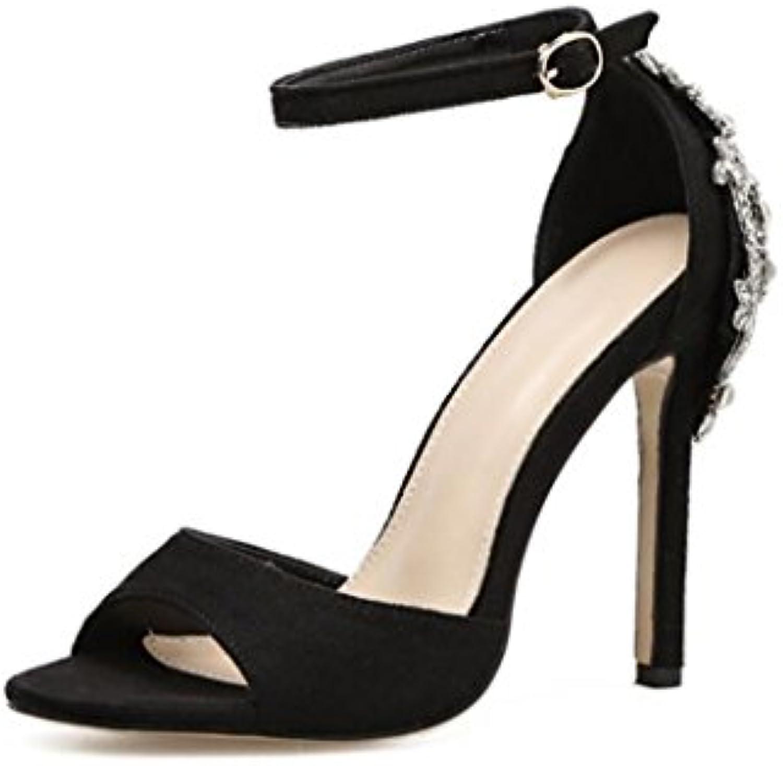 dandanjie les sandales summer sexy cheville glisse sur sur sur des escarpins à talons mesdames chaussures stiletto (Noir  champagne) b07dgxpy8k parent | Technologie Sophistiquée  5f45e9
