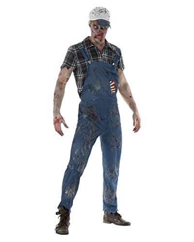 Kostüm Farmer Zombie - Horror-Shop Böser Zombie Farmer Kostüm | M/L/XL L