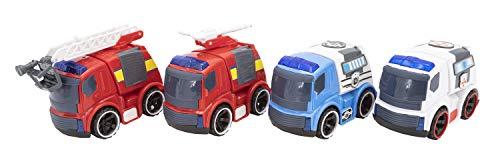 Toys Outlet - City Rescue 5406367596. Einsatzfahrzeuge. Packung mit 4 Autos.