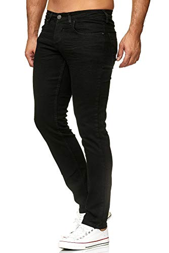 Tazzio Slim Fit Herren Styler Look Stretch Jeans Hose Denim 16533 (33/34, Black)