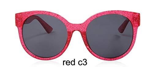 LKVNHP Sterne leuchten kunststoffrahmen rot cat Eye SonnenbrilleDamenhdSpiegelFestivalModegg Frauenoculosuvbeschützer wtyj196 rot c3