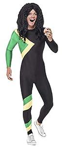 Smiffys Disfraz de héroe jamaicano, negro, con mono, L