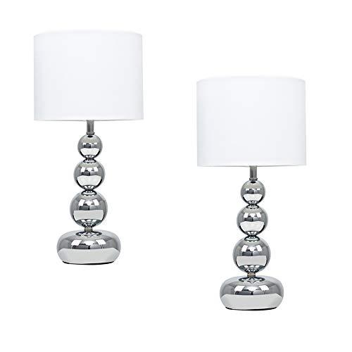 MiniSun - Set de 2 lámparas de mesa táctiles