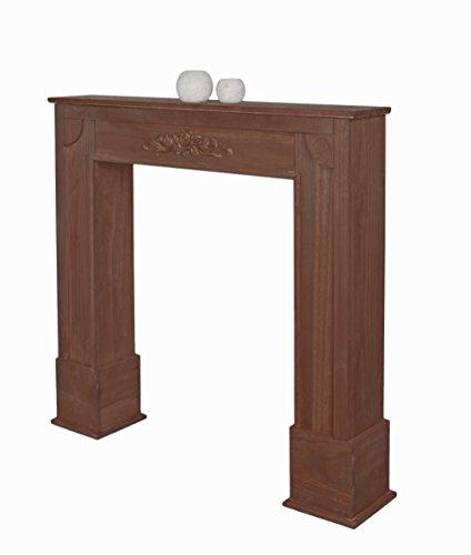 Chimenea Imitación Decoración de madera estilo de la alquería marrón