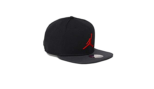 60cf2dcee2a3 Nike Mens Jordan Jumpman Snapback Hat 861452-016 (Black Dark Shadow Red)   Amazon.co.uk  Clothing