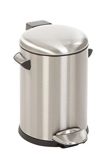 EKO Belle Deluxe Poubelle à Pédale Métal Inox 23,5 x 20,1 x 19,5 cm 3 litres