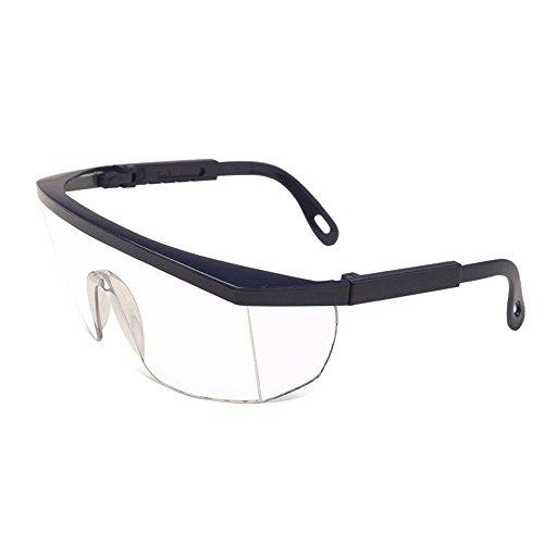 occhiali-protettivi-occhiali-di-sicurezza-blue-frame-clear-lens-outdoor-antivento-eye-protect-black