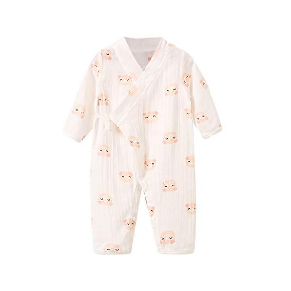 YWLINK Bebé ReciéN Nacido Mono De Dibujos Animados De Frutas De Manga Larga Pijama De Kimono De Gasa Mezcla De AlgodóN… 4