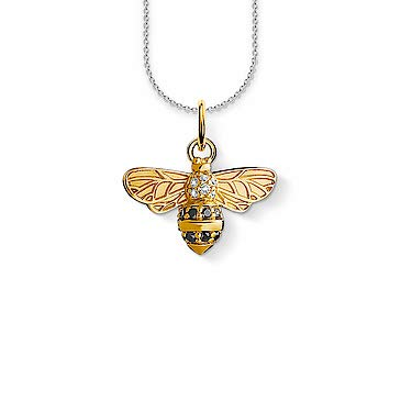 THOMAS SABO - SCKE150241 - Kette, ca. 38/40/42 cm - Biene - 925 Sterling Silber, Vergoldet Gelbgold, Zirkonia gelbgoldfarben